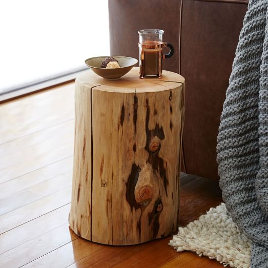 Shop Natural Tree Stump Side Table from West Elm on Openhaus