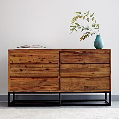 Logan Industrial 6-Drawer Dresser - Natural