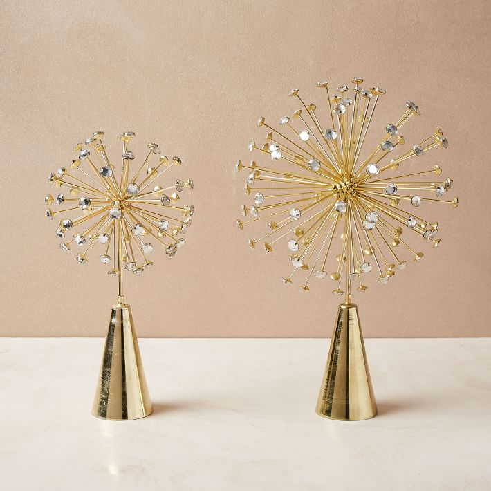 Metal Burst Tree Topper Gold