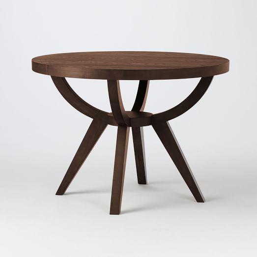 Arc Base Pedestal Dining Table 42 Dark Walnut