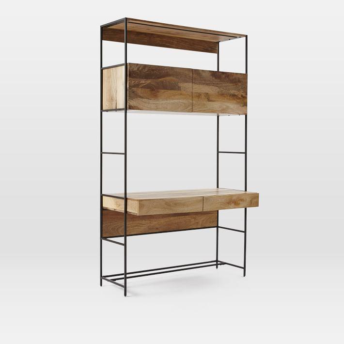 "Shop Industrial Storage Modular System, 49"" Desk from West Elm on Openhaus"
