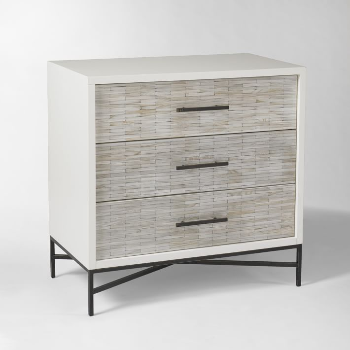 Shop Wood Tiled 3-Drawer Dresser from West Elm on Openhaus