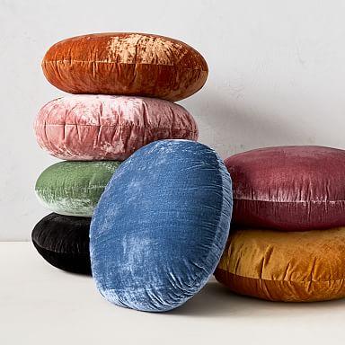 Round Lush Velvet Pillows