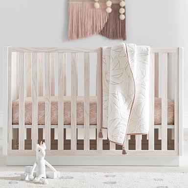 Modernist Convertible Crib - Winter Wood