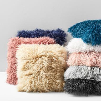 Mongolian Lamb Pillow Covers