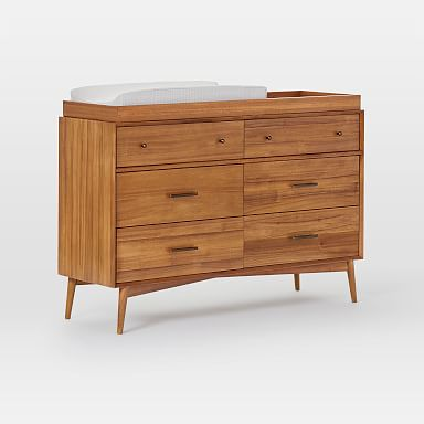 Mid-Century 6-Drawer Changing Table - Acorn
