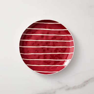 Festive Stripe Salad Plate (Set of 4)