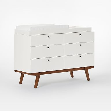 Modern 6-Drawer Changing Table