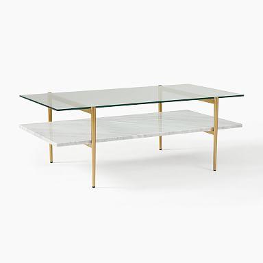 Mid-Century Art Display Coffee Table - Marble