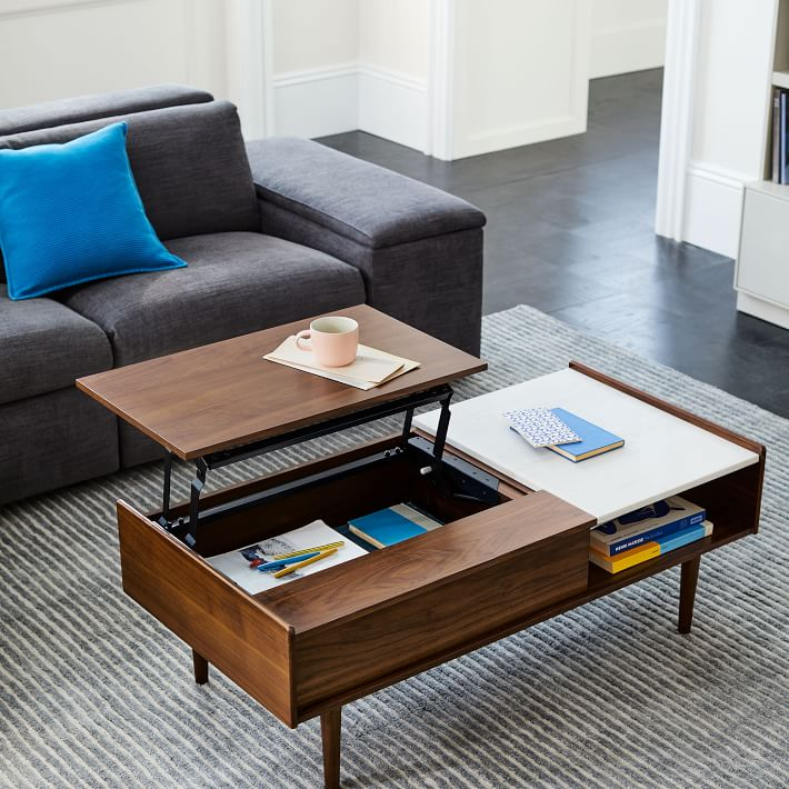 Coffee Table With Pop Up Tray Barkeaterlake Com