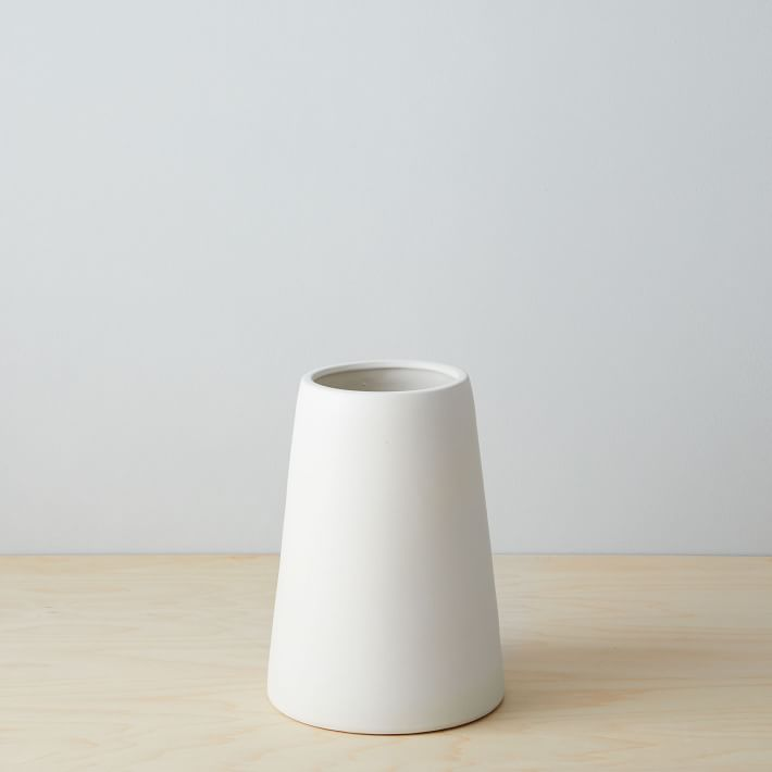 Shop Pure White Ceramic Vases from West Elm on Openhaus