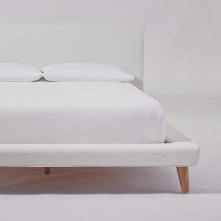 Mod Upholstered Platform Bed, Upholstered Platform Bed Queen