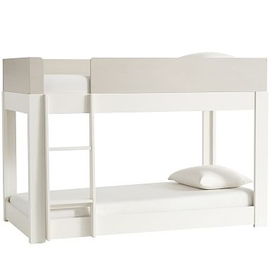Milo Twin Bunk Bed - Pebble / White