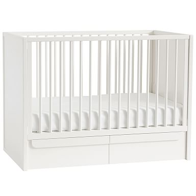 Gemini Convertible Storage Crib - White