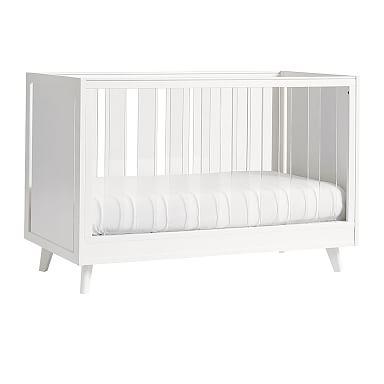 Sloan Acrylic Convertible Crib - White