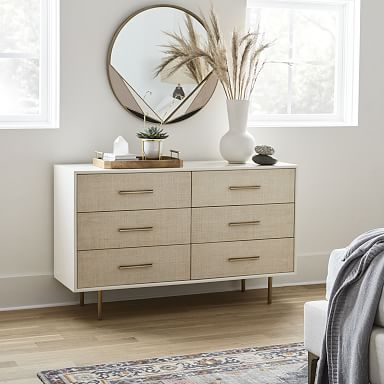Margot Raffia 6-Drawer Dresser
