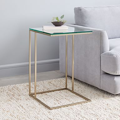 Streamline C-Side Table - Glass