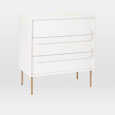 Gemini 3-Drawer Dresser - White Lacquer