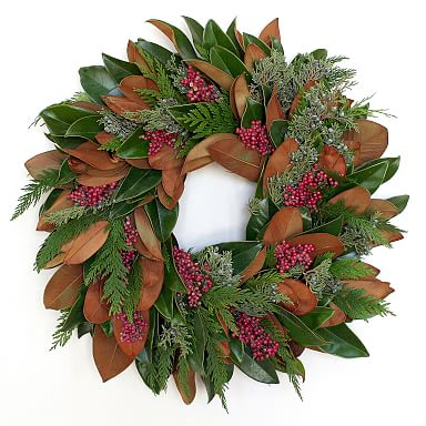Magnolia Berries Wreath
