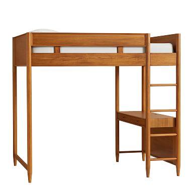 Mid-Century Loft Bed - Acorn