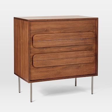 Gemini 3-Drawer Dresser - Walnut