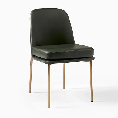 Jack Metal Frame Leather Dining Chair