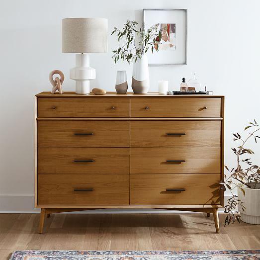 Mid Century 8 Drawer Dresser Acorn