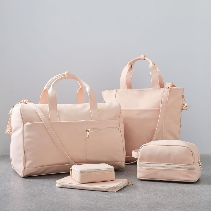 Vegan Leather Travel Set - Blush