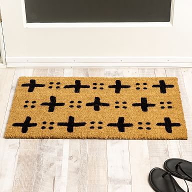 Nickel Designs Hand-Painted Doormat - Cross