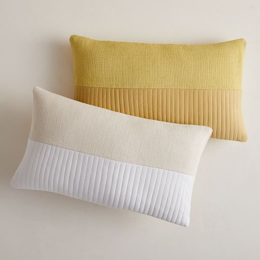 Quilted Cotton Pillow Cover