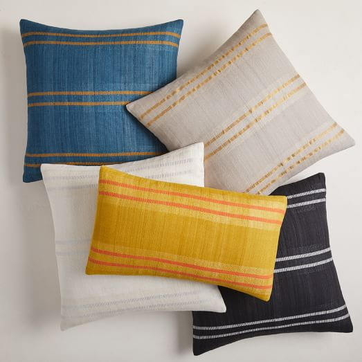 Silk Stripes Pillow Cover