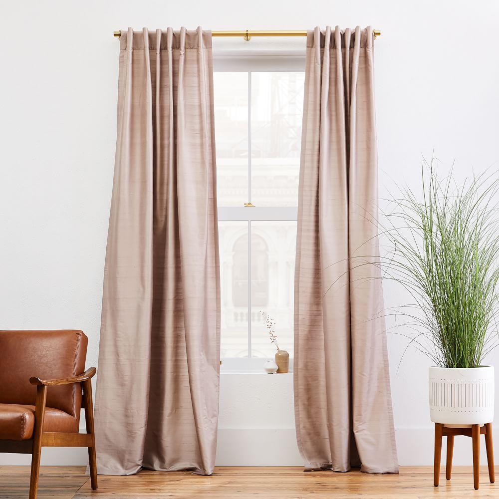 Dupioni Silk Curtain Dusty Blush