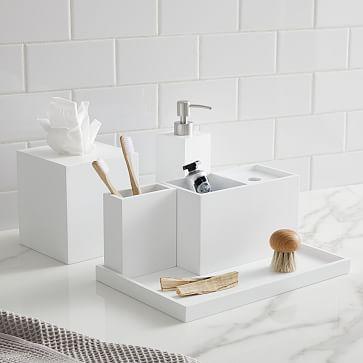 Lacquer Bath Accessories White