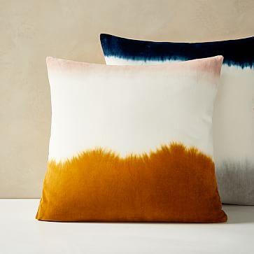 Botanical Dyed Throw Pillow Natural Organic Pillow Case