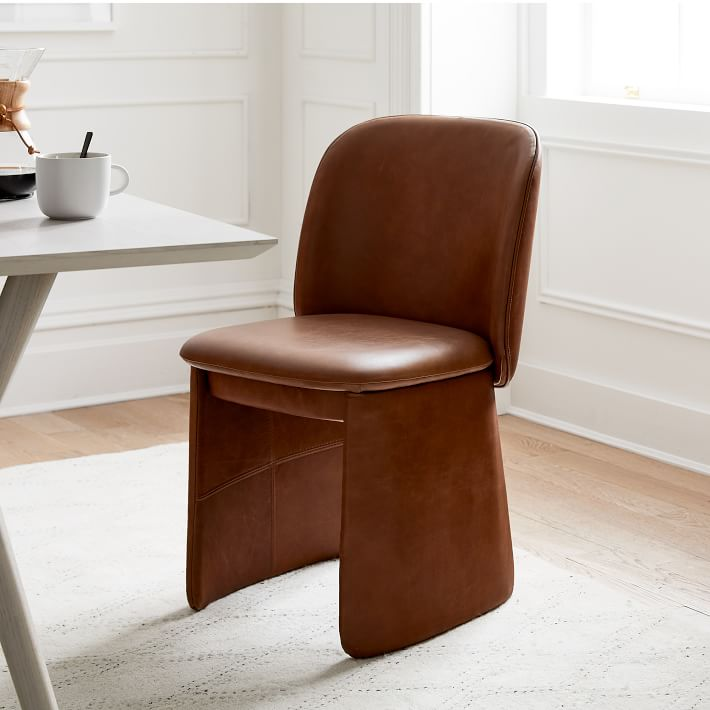 evie leather dining chair west elm