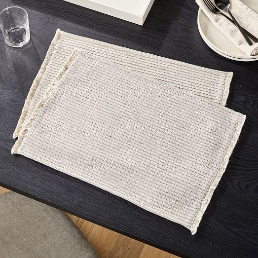 Fringed Cotton Jute Placemat