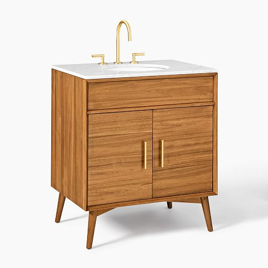 Mid Century Single Bathroom Vanity 31 5 Acorn