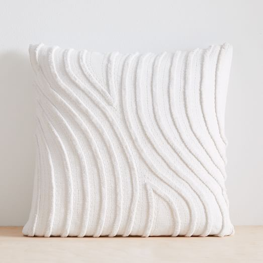 Textured Waves Pillow Cover