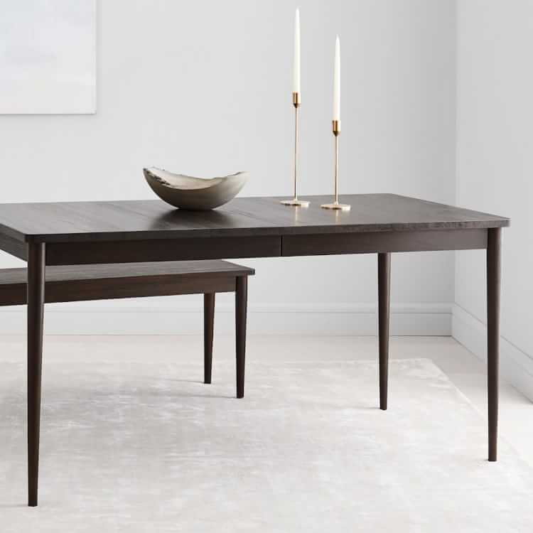 Modern Farmhouse Expandable Dining Table Dark Mineral