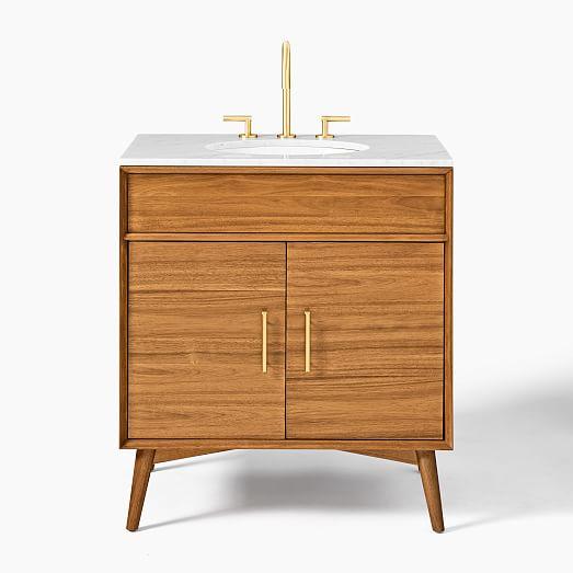 Mid Century Single Bathroom Vanity 31 5 Acorn