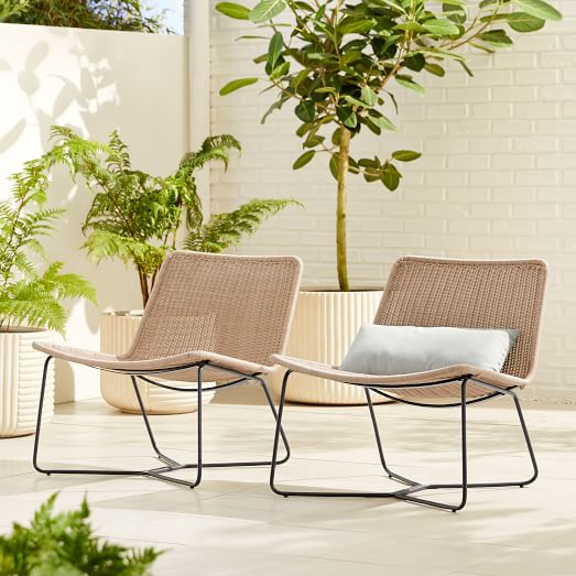 Outdoor Slope Lounge Chair West Elm, West Elm Outdoor Furniture