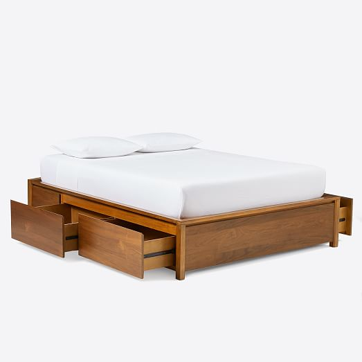 Ansel Side Storage Bed, Queen Bed Frame With Storage On One Side