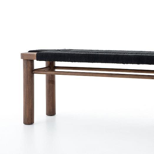 Creative Co Op Distressed Black Slatted, Creative Co Op Furniture