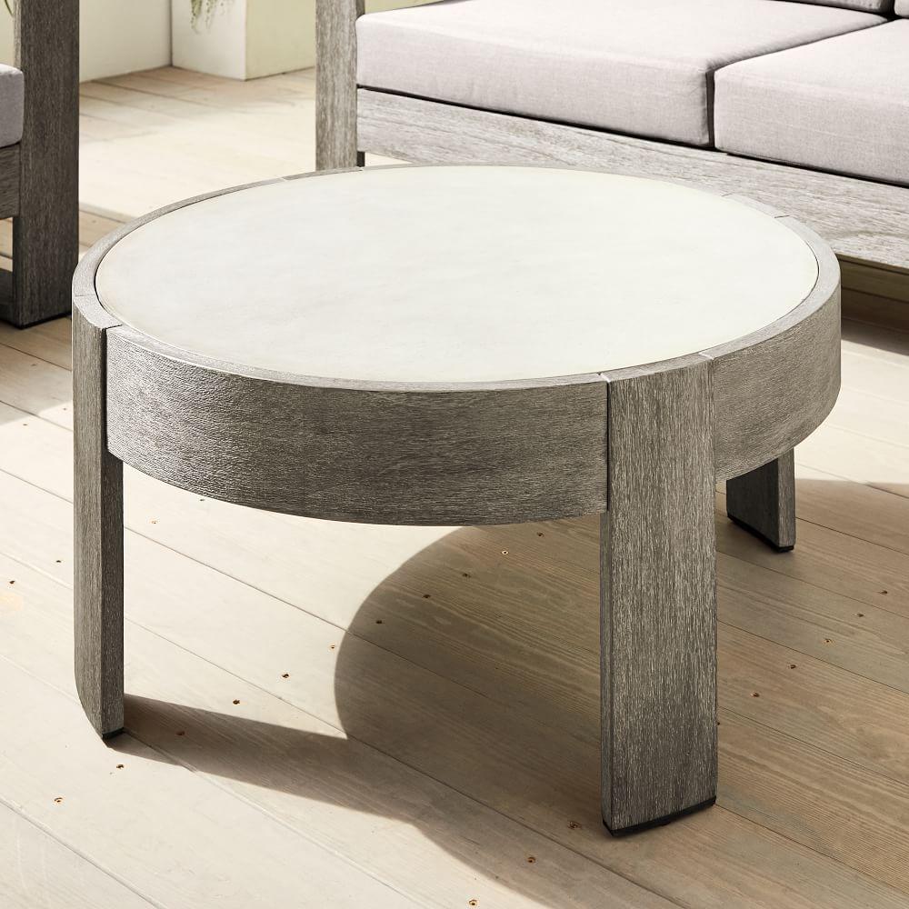 Portside Outdoor Round Concrete Coffee Table [ 1000 x 1000 Pixel ]