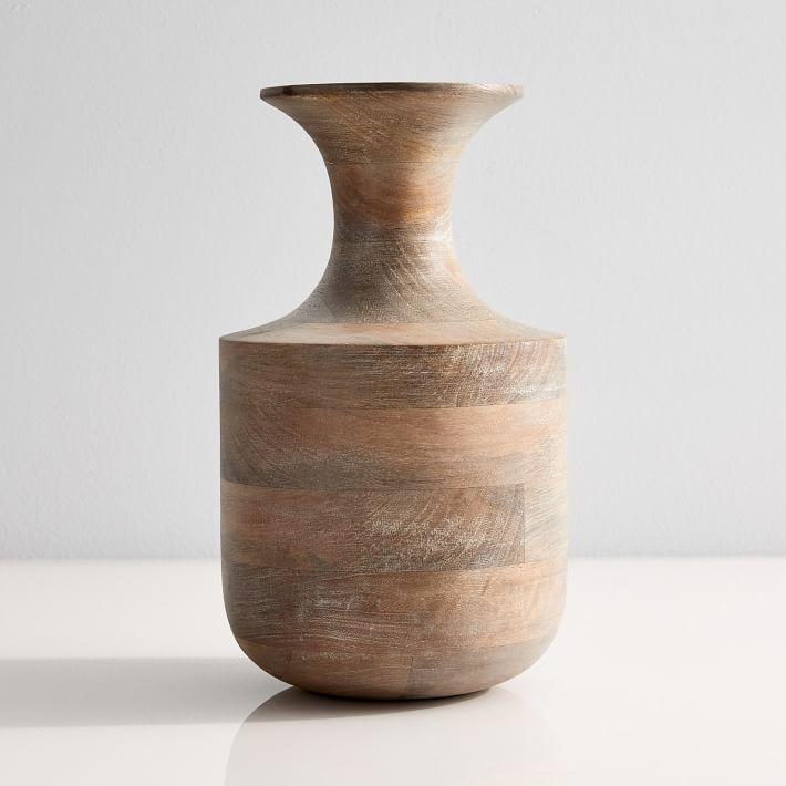 west elm wood vases