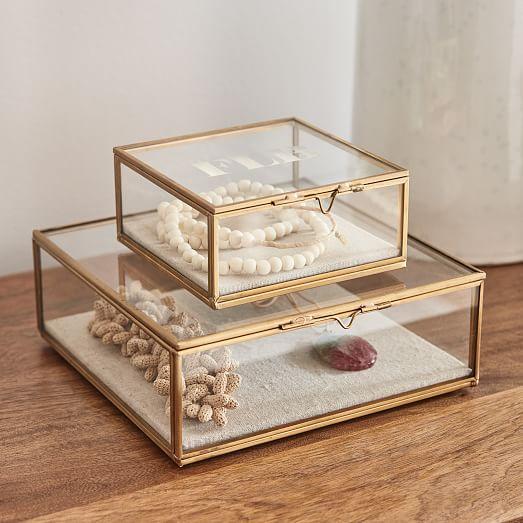Glass Shadow Boxes Jewelry Organization
