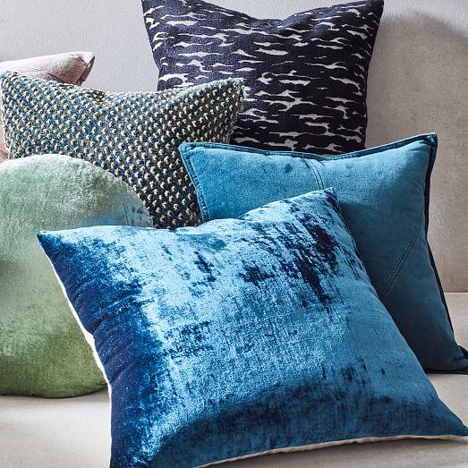 Velvet Pillow Cover Navy With White Pillow Cushion Cover Velvet Cushions,Throw Pillows Velvet Throw Pillows,Velvet Pillow Pillow Collection