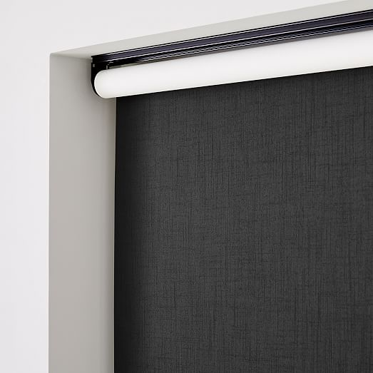 """Real Simple Cordless Open Solar Roller Shade Black 35/"""" x 72/"""""""
