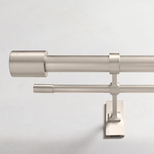 Oversized Metal Double Curtain Rod, 150 Inch Double Curtain Rod