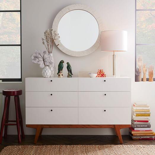 Modern 6 Drawer Dresser